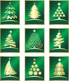 Vector set of firs. Design elements Royalty Free Stock Images
