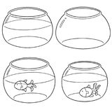 Vector set of fish bowl royalty free illustration