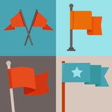 Vector set of flag design elements Royalty Free Stock Photo