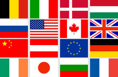 Vector set flags Stock Images