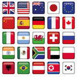 Vector set of Flags world top states Royalty Free Stock Photography