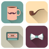 Vector set of flat accessories Royalty Free Stock Photos