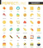 Vector set of flat Bakery food icons. Vector set of flat Bakery food icons isolated vector illustration