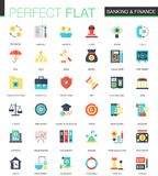 Vector set of flat Banking finance icons. Vector set of flat Banking finance icons isolated Stock Photography