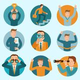 Vector set of flat business illustrations Stock Images
