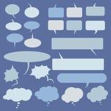 Vector Set of Flat Comics  Bubbles. Talk and Think Stock Photography
