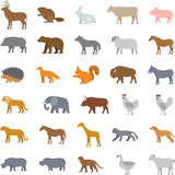 Vector set flat domestic animals Royalty Free Stock Photo
