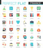 Vector set of flat Finance icons. Vector set of flat Finance icons isolated Royalty Free Stock Images