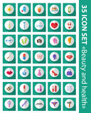 Vector set of flat icons beauty, fashion, health.  Stock Photography