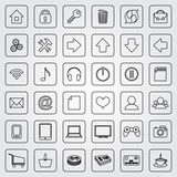 Vector set of flat icons for e-commerce web site Stock Photo