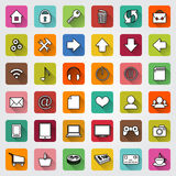 Vector set of flat icons for e-commerce web site Royalty Free Stock Photos