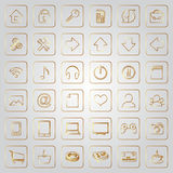 Vector set of flat icons for e-commerce web site Royalty Free Stock Images