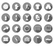 Vector set of flat icons football Stock Image