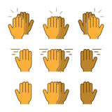 Vector set flat icons high five Royalty Free Stock Photo