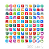 Vector set of flat icons with long shadows for web, mobile or pr Royalty Free Stock Photo