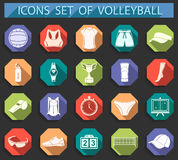 Vector set of flat icons Royalty Free Stock Image