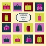 Vector set of flat luggage-icons-set Royalty Free Stock Image