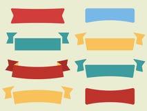 Vector set of flat ribbons Stock Photo