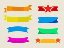 Vector set of flat ribbons Stock Image