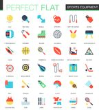 Vector set of flat Sport equipment icons. Vector set of flat Sport equipment icons isolated Stock Images