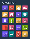 Vector Set Flat Square Icons Royalty Free Stock Photography