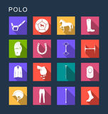 Vector Set Flat Square Icons Stock Photography