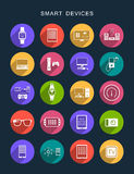 Vector Set Flat Square Icons Royalty Free Stock Photo