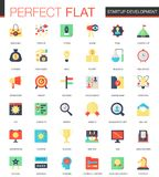 Vector set of flat Startup and development icons. Stock Photo