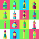 Vector set of flat washing aggents. Royalty Free Stock Photos