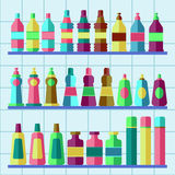 Vector set of flat washing aggents. Stock Images