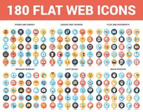 Flat Web Icons Royalty Free Stock Images