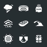 Vector Set of Flood Icons. Royalty Free Stock Photography