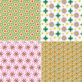 Vector set of patterns for the holiday background Stock Photos