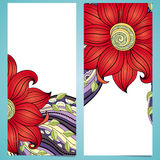Vector Set of Floral Banners. Place for text Stock Image