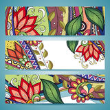 Vector Set of Floral Banners Stock Photography