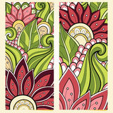 Vector Set of Floral Banners. Place for text Royalty Free Stock Image