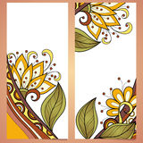 Vector Set of Floral Banners. Place for text Royalty Free Stock Images