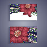 Vector Set of Floral Banners. Place for text Stock Photo