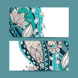 Vector Set of Floral Banners Royalty Free Stock Photography