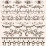 Vector set of floral borders Stock Image