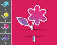 Vector set of floral cards. Royalty Free Stock Photography