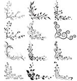 Vector set of floral corners Stock Images