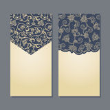 Vector set of floral decorative background. Royalty Free Stock Photography
