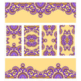Vector set of floral decorative background. Royalty Free Stock Photos