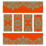 Vector set of floral decorative background. Stock Photos