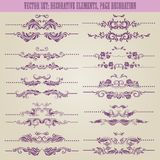 Vector set: floral decorative elements Stock Photos