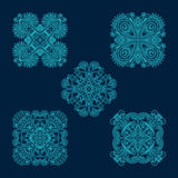 Vector set of floral decorative elements. Royalty Free Stock Photo