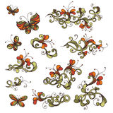 Vector set of floral design elements. Stock Photography
