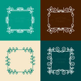 Vector set of floral  frames Stock Image