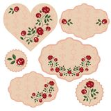 Vector set of floral frames stock illustration